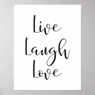 Live Laugh Love, Motivational, Inspirational Print