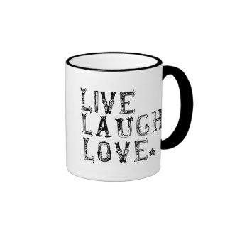 live, laugh, love coffee mugs