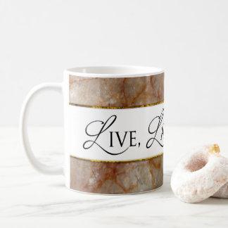 LIVE, LAUGH, LOVE MUG - MARBLE AFFECT
