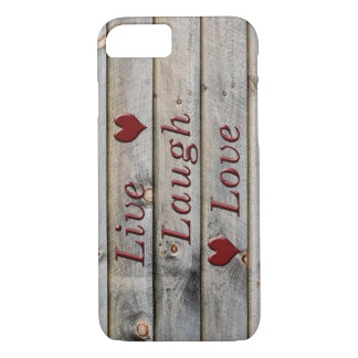 Live Laugh Love on the side of a barn iPhone 8/7 Case