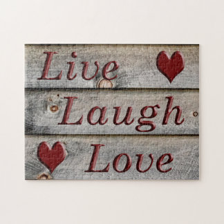Live Laugh Love on the side of a barn Jigsaw Puzzle
