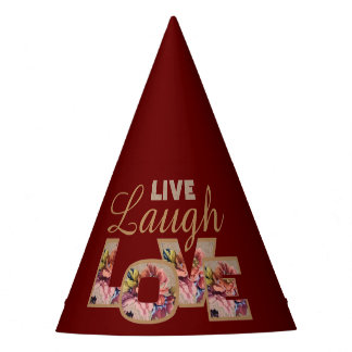 Live, Laugh, love Party Hat