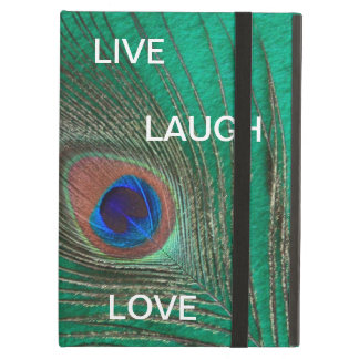 Live Laugh Love Peacock Feather iPad Air Case