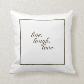 Live Laugh Love Pillow