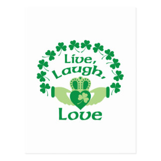 Live Laugh Love Postcard