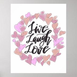 Live Laugh Love Poster