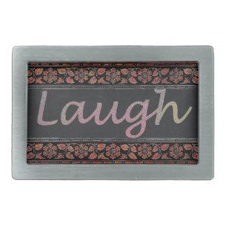 Live Laugh Love Rectangular Belt Buckle