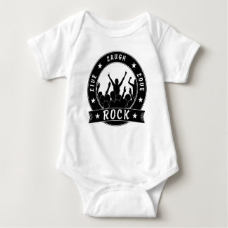 Live Laugh Love ROCK (blk) Baby Bodysuit