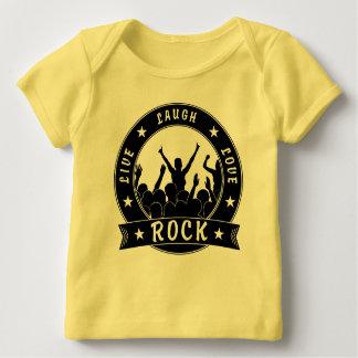 Live Laugh Love ROCK (blk) Baby T-Shirt