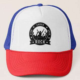 Live Laugh Love ROCK (blk) Trucker Hat