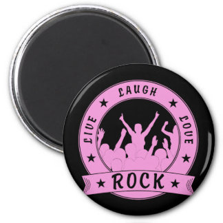 Live Laugh Love ROCK (pink) Magnet