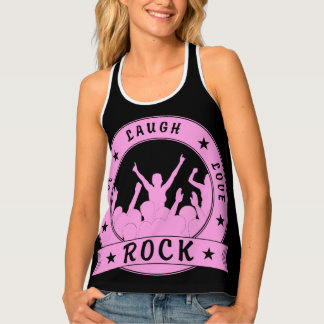 Live Laugh Love ROCK (pink) Singlet