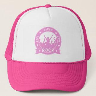 Live Laugh Love ROCK (pink) Trucker Hat