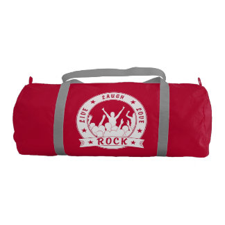 Live Laugh Love ROCK (wht) Gym Bag