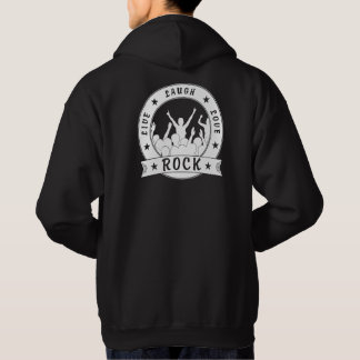 Live Laugh Love ROCK (wht) Hoodie