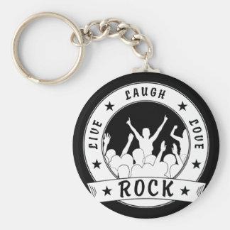 Live Laugh Love ROCK (wht) Key Ring