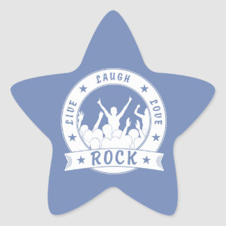 Live Laugh Love ROCK (wht) Star Sticker
