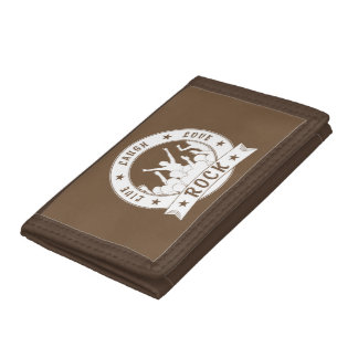 Live Laugh Love ROCK (wht) Tri-fold Wallets