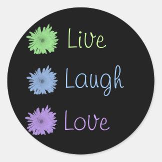 Live Laugh Love Round Sticker