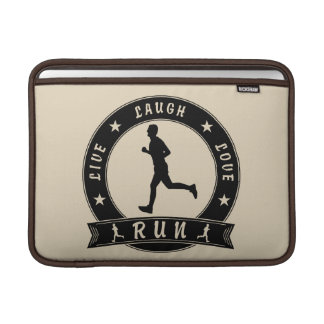 Live Laugh Love RUN circle (blk) MacBook Sleeve