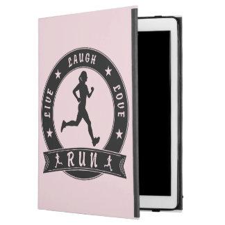 "Live Laugh Love RUN female circle (blk) iPad Pro 12.9"" Case"