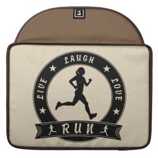 Live Laugh Love RUN female circle (blk) Sleeve For MacBook Pro