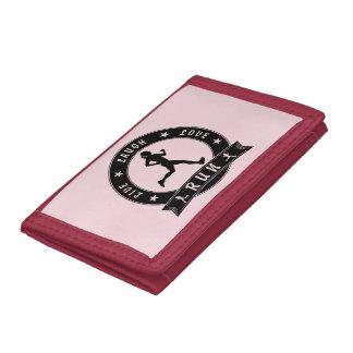Live Laugh Love RUN female circle (blk) Tri-fold Wallet