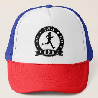 Live Laugh Love RUN female circle (blk) Trucker Hat