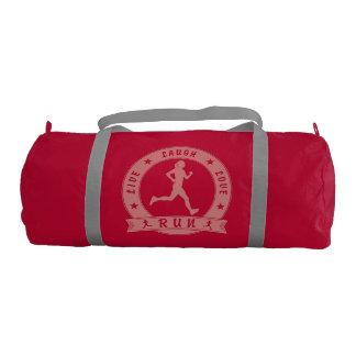 Live Laugh Love RUN female circle (pink) Gym Bag