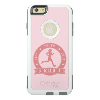 Live Laugh Love RUN female circle (pink) OtterBox iPhone 6/6s Plus Case