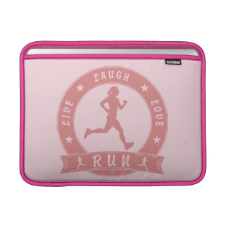 Live Laugh Love RUN female circle (pink) Sleeve For MacBook Air