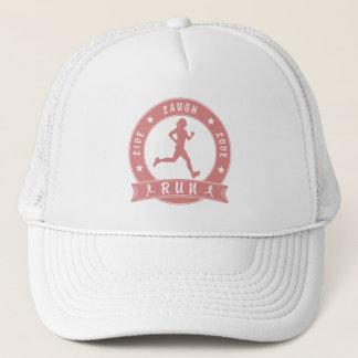 Live Laugh Love RUN female circle (pink) Trucker Hat