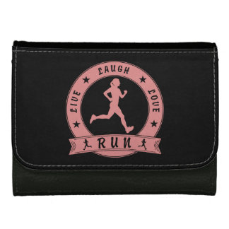 Live Laugh Love RUN female circle (pink) Wallets For Women