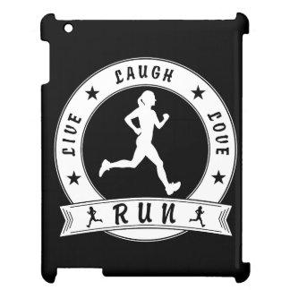 Live Laugh Love RUN female circle (wht) iPad Cases