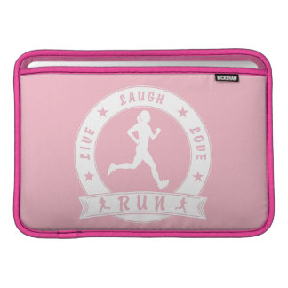 Live Laugh Love RUN female circle (wht) Sleeve For MacBook Air