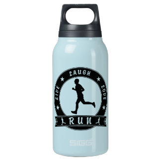 Live Laugh Love RUN male circle (blk) Insulated Water Bottle