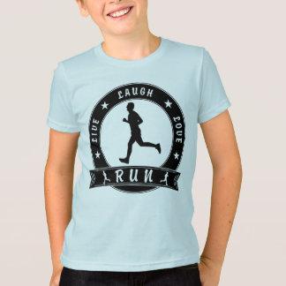 Live Laugh Love RUN male circle (blk) T-Shirt