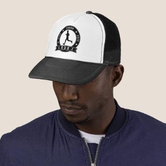 Live Laugh Love RUN male circle (blk) Trucker Hat