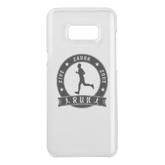 Live Laugh Love RUN male circle (blk) Uncommon Samsung Galaxy S8 Plus Case