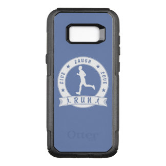 Live Laugh Love RUN male circle (blue) OtterBox Commuter Samsung Galaxy S8+ Case