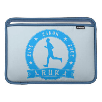 Live Laugh Love RUN male circle (blue) Sleeve For MacBook Air