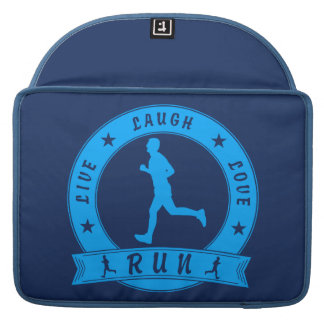 Live Laugh Love RUN male circle (blue) Sleeve For MacBook Pro