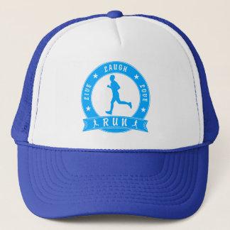 Live Laugh Love RUN male circle (blue) Trucker Hat