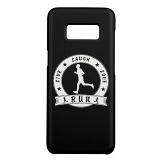 Live Laugh Love RUN male circle (wht) Case-Mate Samsung Galaxy S8 Case