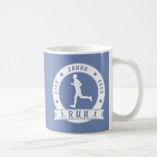 Live Laugh Love RUN male circle (wht) Coffee Mug