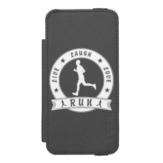 Live Laugh Love RUN male circle (wht) Incipio Watson™ iPhone 5 Wallet Case