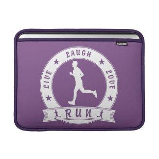 Live Laugh Love RUN male circle (wht) MacBook Sleeve