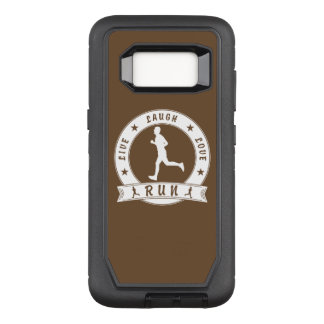 Live Laugh Love RUN male circle (wht) OtterBox Defender Samsung Galaxy S8 Case
