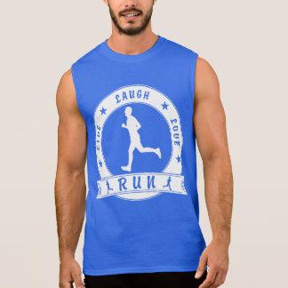 Live Laugh Love RUN male circle (wht) Sleeveless Shirt