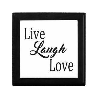 Live Laugh Love Small Square Gift Box